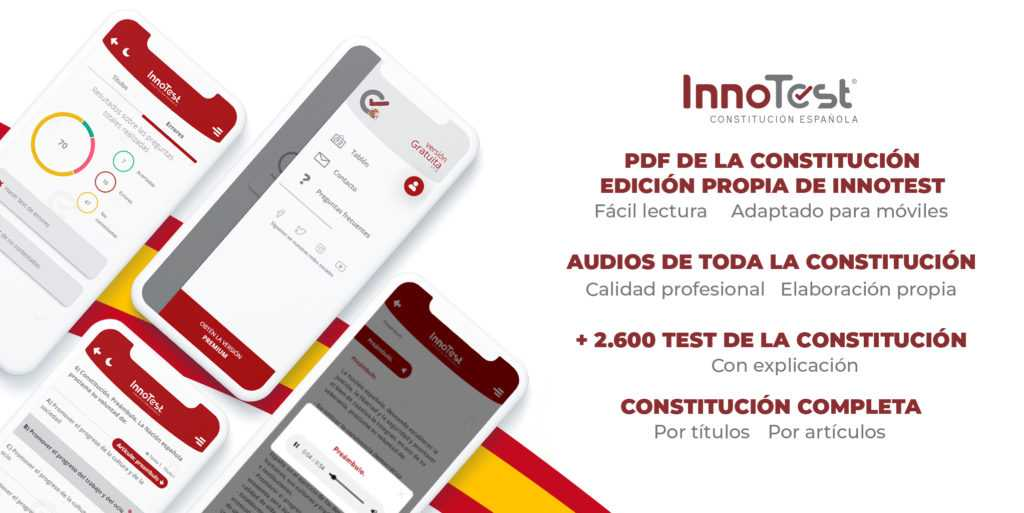 estudia la constitución española con InnoTest