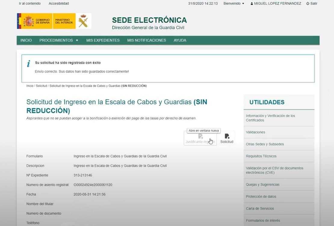 sede electronica - instancias
